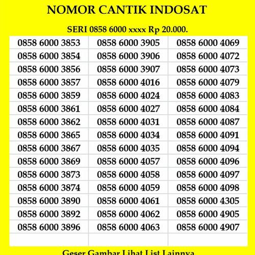 Foto Produk Nomor Cantik Indosat 4G LTE Ooredoo Kartu Perdana Murah dari 41cell