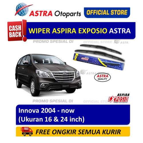 Foto Produk Wiper Blade Hybrid Graphite ASPIRA EXPOSIO: Toyota Innova th 2004-now dari Astra Otoparts