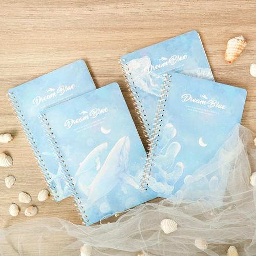 Foto Produk Dream Blue Spiral Ruled Notebook A5 dari Pinkabulous