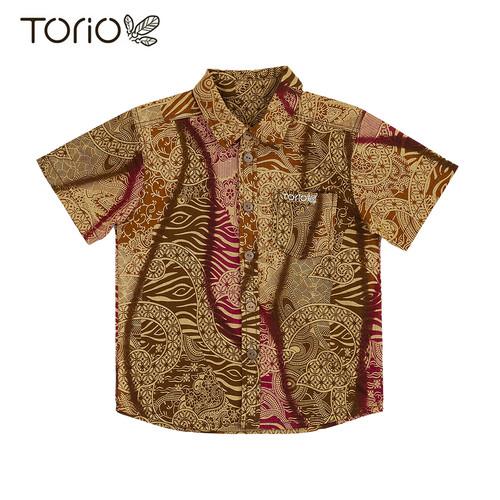 Foto Produk Torio Indonesian Smart Casual Gold Batik - Kemeja Batik Anak Laki-Laki - 4-5 tahun dari Torio