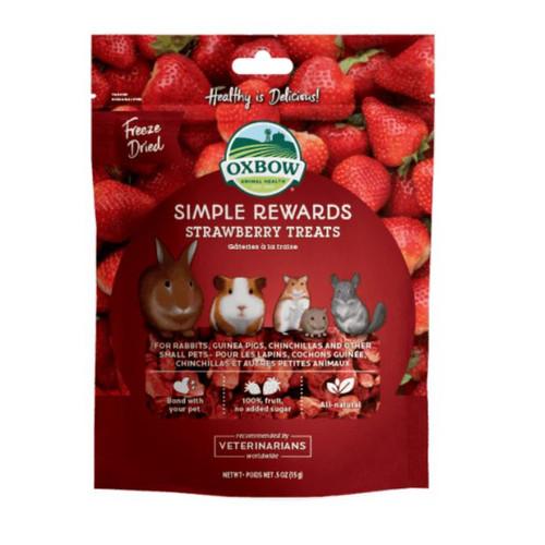 Foto Produk Oxbow Strawberry Treats 0.50oz 15gr Simple Rewards Hamster Kelinci - EXP 2021-12 dari Hime petshop