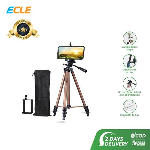 Foto Produk ECLE Tripod HP Camera Extendable Portable Stabilizer + Holder - Bronze dari ECLE Official Store
