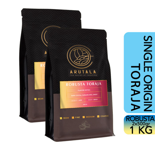 Foto Produk ARUTALA Kopi Toraja Rantebua Robusta Coffee 1KG - Bean dari Arutala Online Co.