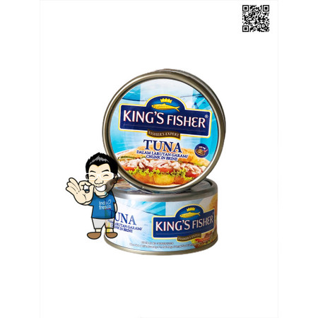 Foto Produk King's Fisher Tuna In Canned- Daging Tuna Kaleng 170g - Chunk in Brine dari IndoFresco