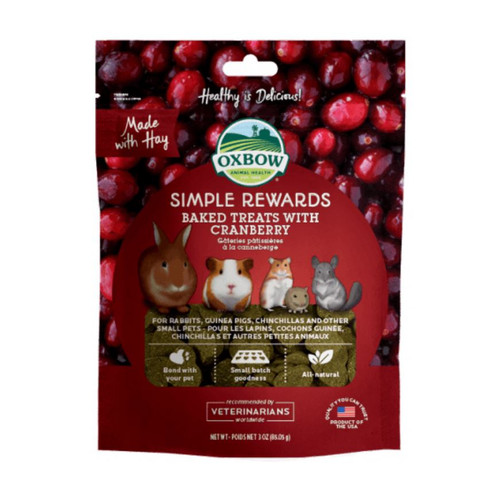 Foto Produk Oxbow Cranberry 3oz 60gr Simple Rewards Baked Treats Snack Hamster - EXP 2022-07 dari Hime petshop