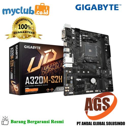 Foto Produk Gigabyte Motherboard GA-A320M-S2H 2.0 Socket AM4 Micro ATX 2 x DDR4 dari Myclub