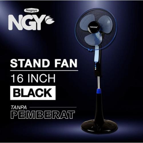Foto Produk Kipas Angin Berdiri / Stand Fan TIMEZONE Black 16in TZ-16KB - Tanpa Pemberat dari Nagoya Electronics