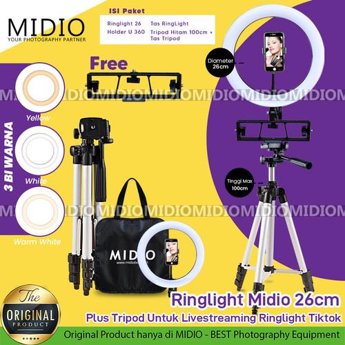 Foto Produk Ringlight Midio 26 Plus Tripod Untuk Livestreaming Ringlight Tiktok dari Midio