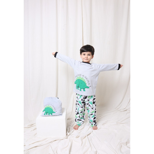 Foto Produk Piyama Anak Long Shirts Snooze-A-Saurus LSLP98 - 4 dari Boboo Kids