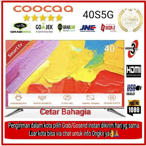 Foto Produk COOCAA LED 40 inch Smart TV 40S5G Android TV dari cetar bahagia