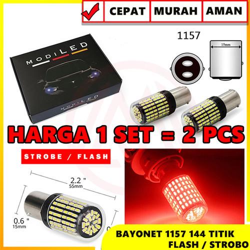 Foto Produk Lampu LED CANbus Brake Rem Bayonet Flash Strobo Kedip 1157 BAY15D dari Modifikasi Market