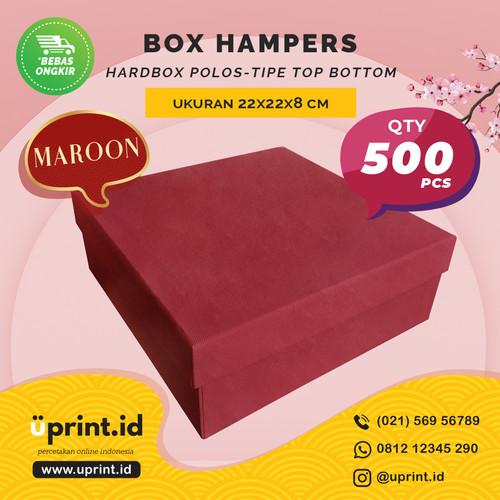 Foto Produk HARDBOX POLOS MAROON | 22 x 22 x 8 cm| BOX HAMPERS/KUE - QTY 500pcs dari Uprint.id