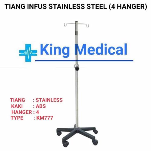 Foto Produk Tiang Infus Stainless K - 5 Pakai Roda dari King Medical