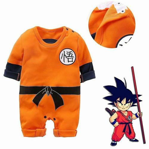 Foto Produk Baju Romper / Baby Jumper Lengan Panjang Bayi cowo Anime Son Goku - 3-6 Bulan dari Bless30_Shop