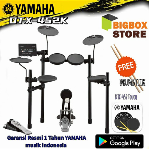 Foto Produk Drum Elektrik Yamaha DTX-452K / DTX 452K / DTX452 / DTX452K dari BigBox store