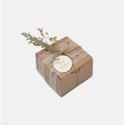 Foto Produk TERMURAH!!! DIY Gift Packaging Kotak/Kado/Hadiah Rustic Aesthetic - S dari @shopatshilo