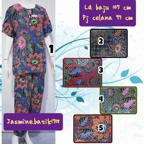 Foto Produk SETELAN CELANA PANJANG KENCANA UNGU dari jasmine.batik1718