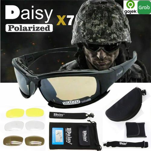 Foto Produk Kacamata Sunglasses Police Military Tactical Daisy x7 Anti UV 4 lensa dari toko25jam