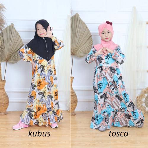Foto Produk Baju Gamis Busana Muslim Lebaran Syari Anak Perempuan Katun Rayon - FANTA, 4-6 Tahun dari Kids Mode