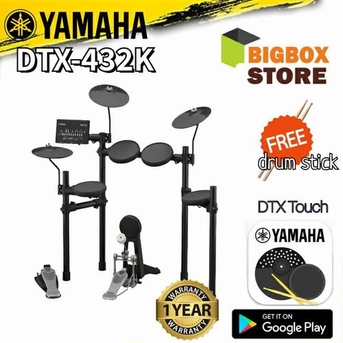 Foto Produk Elektrik Drum Yamaha DTX-432K / DTX432K / DTX 432K / DTX 432 dari BigBox store