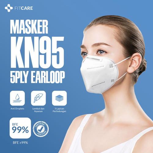 Foto Produk Masker 5ply KN95 Fitcare dari fitcareofficial