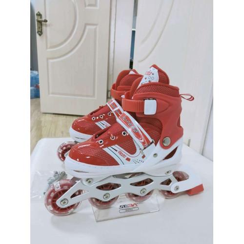 Foto Produk Sepatu Roda Anak Power Inline Skate / Power Roller Skate / Sepatu Ro - Merah, S dari BMBA