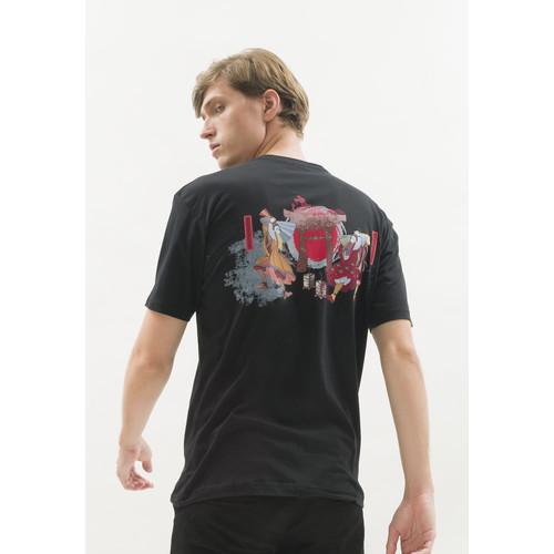 Foto Produk Kaos hitam t shirt polos houseofcuff motif Gate Black READY HINGGA 4XL dari House of Cuff