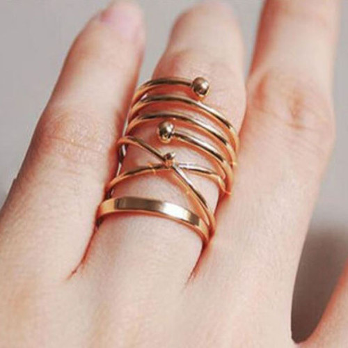 Foto Produk cincin set 6 pcs hollow joint rings jci061 dari Oila