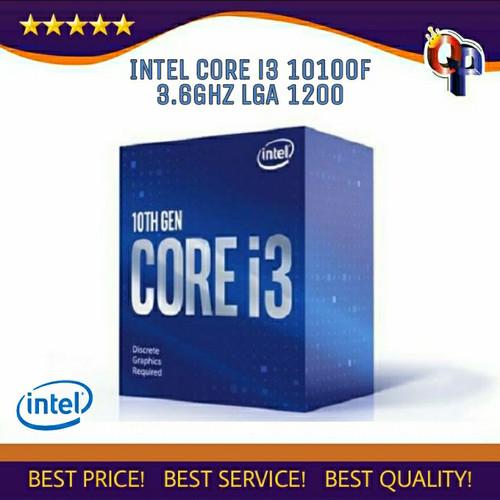 Foto Produk Processor INTEL core i3 10100F 3.6 GHz BOX socket 1200 NEW ITEM !!! dari QUEENPROCESSOR