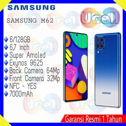 Foto Produk Samsung Galaxy M62 - 6/128GB 8/256GB - Garansi Resmi - Biru, 8/256GB dari ucell cempaka