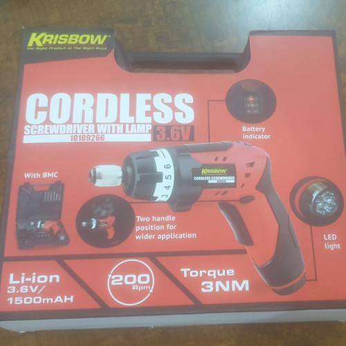 Foto Produk Krisbow Cordless Screwdriver With Lamp dari TimoStudio