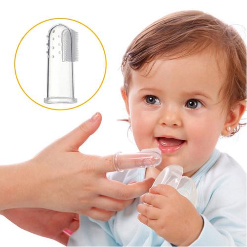 Foto Produk Marveila Silicone Finger Toothbrush/Sikat Gigi Bayi Silicone With Box dari Marveila & Friends
