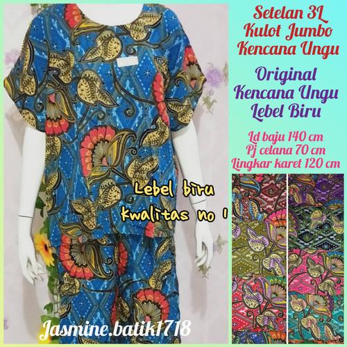 Foto Produk SETELAN KULOT JUMBO 3L KENCANA UNGU KUB dari jasmine.batik1718