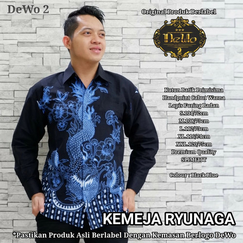 Foto Produk kemeja dewangga batik slimfit premium dari Jivan Batik