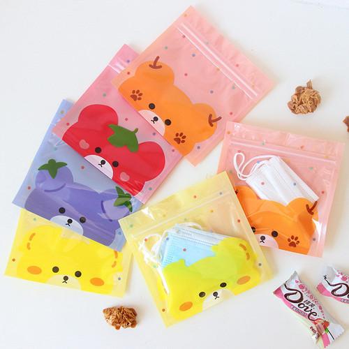 Foto Produk Fruity Bear Resealable Mini Plastic Pouch - Pouch Serbaguna - Pouch dari Pinkabulous