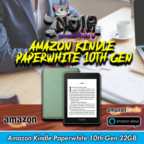 Foto Produk Amazon Kindle Paperwhite 10th Gen EBook Reader Waterproof 32GB Ads - Sage dari NOIR Official Store