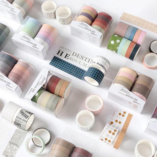 Foto Produk Masking Tape Set 10pc Agugu Style - Selotip Unik - Selotip Lucu dari Pinkabulous