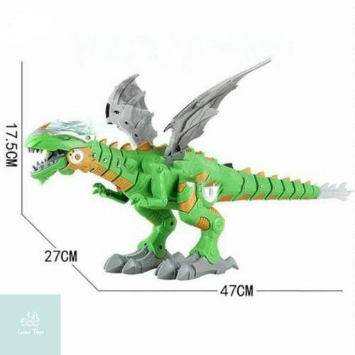 Foto Produk Mainan Robot Spray Walking Dinosaur Sembur Asap Api Dinosaurus 168-1 - Hijau dari Lumi Toys