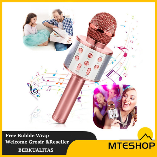 Foto Produk Mic Bluetooth 858 Wireless Karoke Microphone - random dari MTEshop