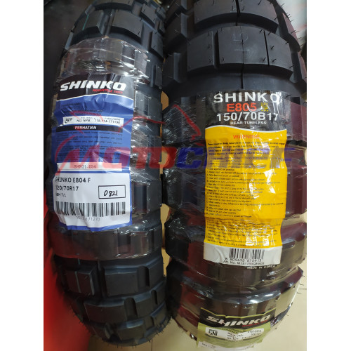 Foto Produk Ban shinko E804/805 120/70-17 150/70-17 Paket Hemat Depan dan Belakang dari Motochiefdotnet