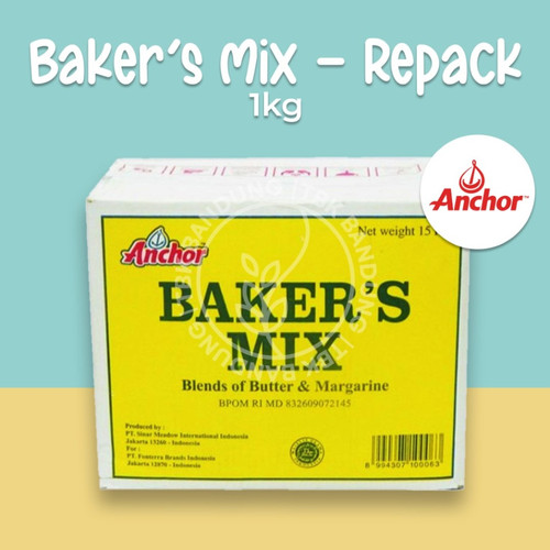 Foto Produk Anchor Bakers Mix Repack 1000 gr - 500 dari TBK Bandung