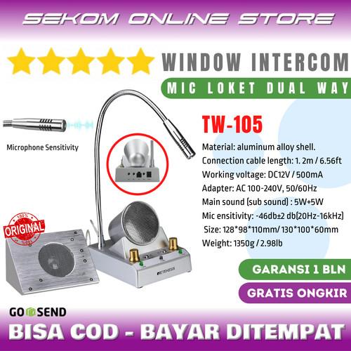 Foto Produk RETEKESS Dual Way Window Counter Intercom - Mic Loket 2 Arah TW-105 dari SEKOM ONLINE STORE