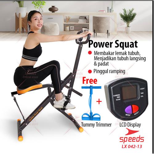Foto Produk Hit Power Squat Home Squat Power Rider Alat Olaharaga Excider 042-13 - Hitam dari Speeds Official Store