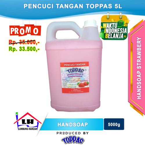 Foto Produk Hand Soap Strawbery 5 L TOPPAS Mutu TOP Harga PAS Promo dari Toko Sabun Hamzah