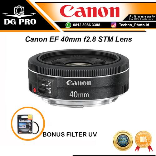 Foto Produk Lensa Canon EF 40mm f2.8 STM Lens BONUS FILTER UV dari DG PRO