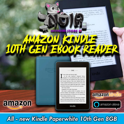 Foto Produk Amazon Kindle Paperwhite 10thGen EBook Reader Waterproof 8GB Ads - TWILIGHT BLUE dari NOIR Official Store