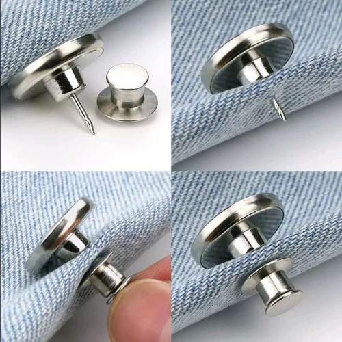 Foto Produk Kancing AJAIB Untuk Celana Kedodoran/Kesempitan Bahan Logam Per Pcs dari franky interlining
