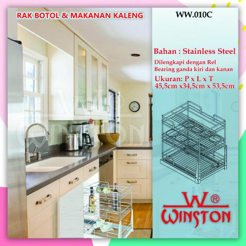 Foto Produk Rak Tarik Botol Mangkok Kaleng Stainless Winston WW 010 C dari WINSTON SUKSES ABADI