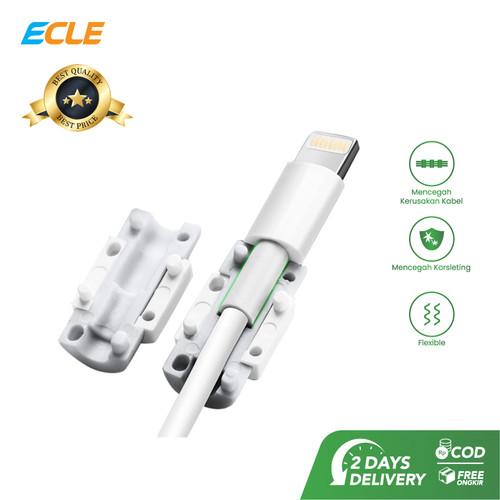 Foto Produk ECLE Plastic Grip Pelindung Kabel Data USB Putih EMC1202 dari ECLE Official Store