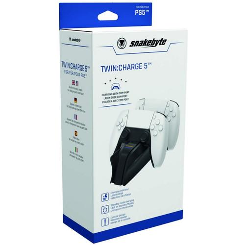 Foto Produk PS5 Playstation 5 Snakebyte TWIN Charge DualSense Charging Station LED dari Waroengame